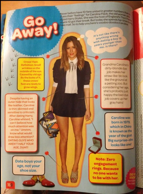 caroline flack styles one direction One Direction fan magazine subjects Caroline Flack to Daily Mail style sexism