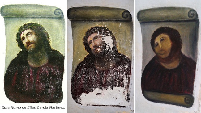 Something happend to Elías García Martínezs Ecce Homo