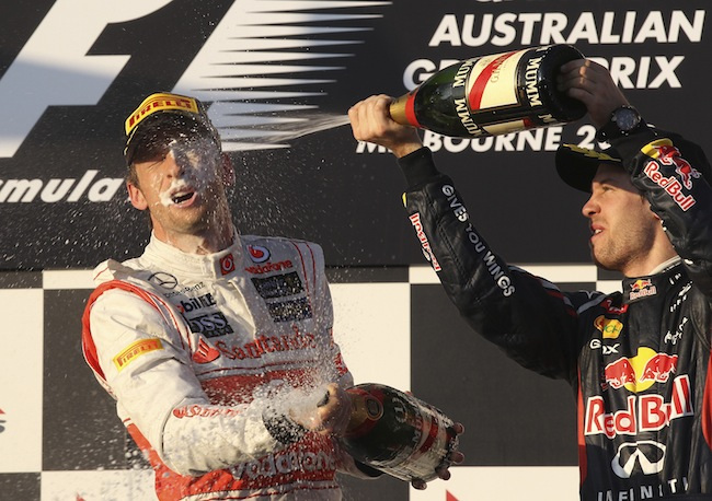 PA 13084724 Mark Webber is Formular Ones best champagne squirter: the 2012 season in photos