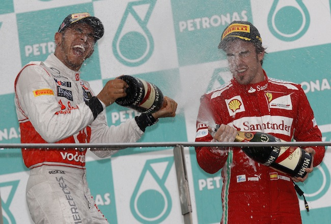 PA 13141857 Mark Webber is Formular Ones best champagne squirter: the 2012 season in photos
