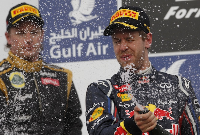 PA 13360777 Mark Webber is Formular Ones best champagne squirter: the 2012 season in photos
