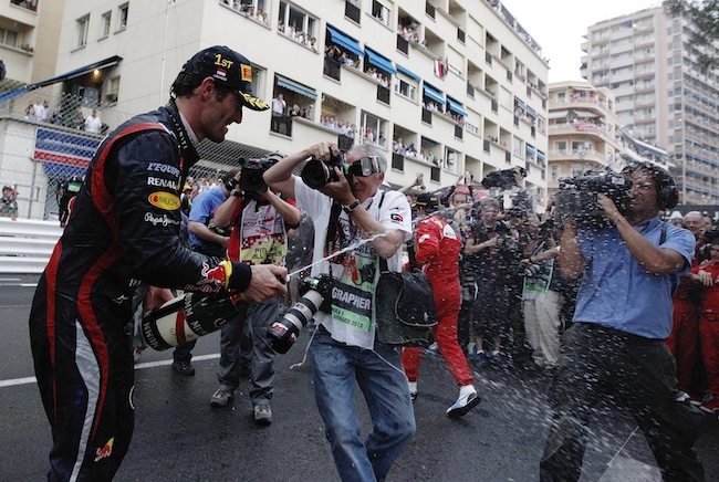 PA 13629050 Mark Webber is Formular Ones best champagne squirter: the 2012 season in photos
