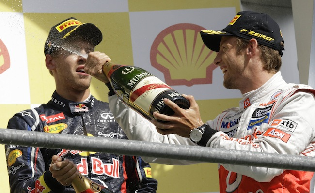 PA 14436910 1 Mark Webber is Formular Ones best champagne squirter: the 2012 season in photos