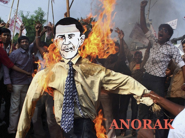 PA 9735382 The best Barack Obama burning effigies   Islamists go bonkers for Bonfire Night (photos)
