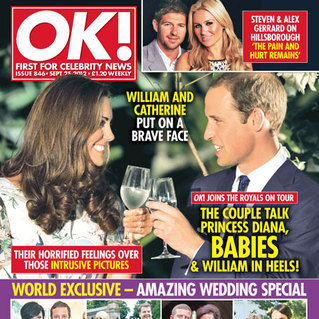 OK! magazine spotlights brave Kate Middleton and Prince William