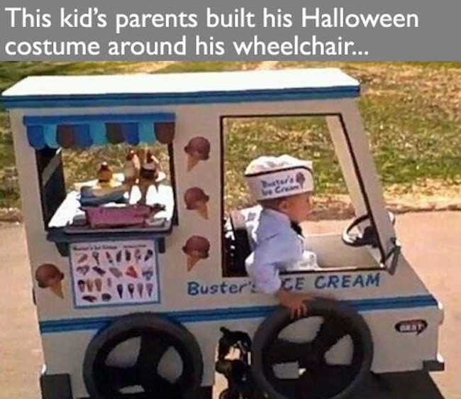 Parents build Halloween costume around sons wheelchair (photo)