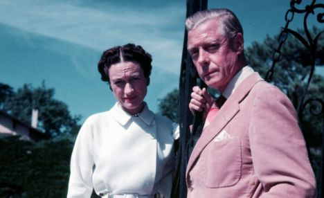 Biarritz, France. 1951. The Duke and Duchess of Windsor are pictured at their villa.