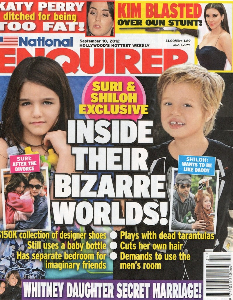 nat enquirer 797x1024 Suri Cruise gets her imaginary friends from Shiloh Pitts spider cemetery
