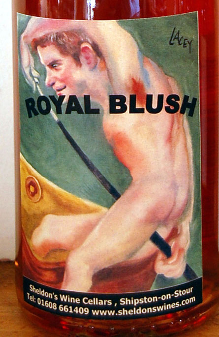 Royal Blush: Prince Harry is the arse of naked wine