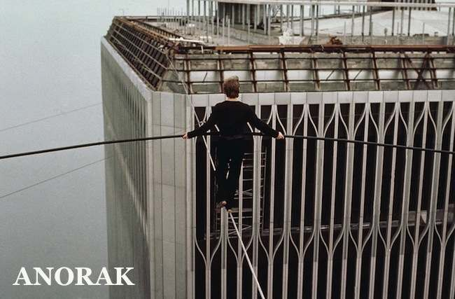 PA 9829366 1974: Philippe Petit walks a tightrope between the twin towers of the World Trade Center