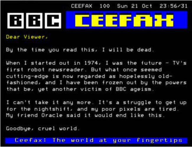 Ceefax and Teletext RIP