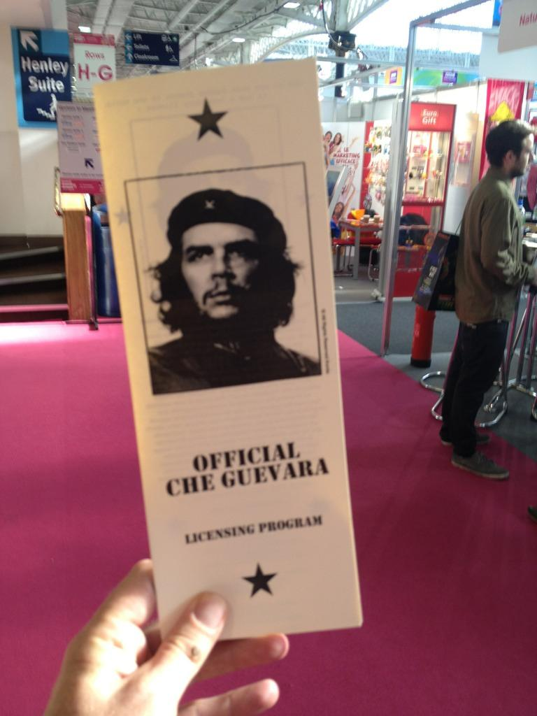 Che Guevara at the Brand Licensing Europe trade show in Olympia, London