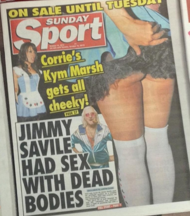 jimmy savile necrophilia Jimmy Savile had sex with dead bodies says stars former employer