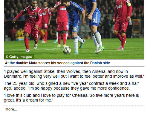 mata luis Chelseas Juan Mata and David Luis are the same person, says Daily Mail
