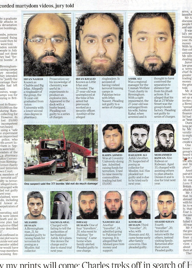 terror cells A look at the faces of the Birmingham terror cell: recognising Salma Kabal