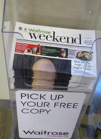 waitrose free newspaper penis Waitrose magazine features an accidental penis