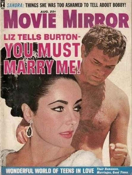 1963 4 Elizabeth Taylor and Richard Burtons love story told in magazine covers