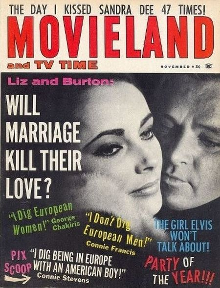 1963 7 Elizabeth Taylor and Richard Burtons love story told in magazine covers
