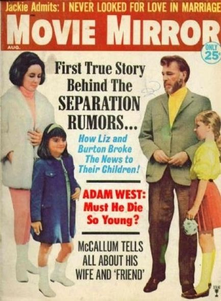 1966 Elizabeth Taylor and Richard Burtons love story told in magazine covers