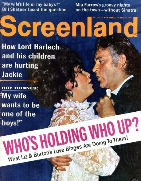 1968  Elizabeth Taylor and Richard Burtons love story told in magazine covers