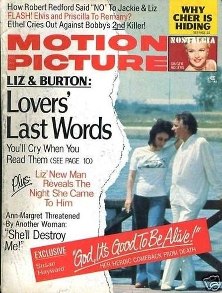 1974 2 Elizabeth Taylor and Richard Burtons love story told in magazine covers