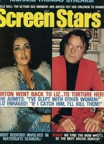 1974 Elizabeth Taylor and Richard Burtons love story told in magazine covers