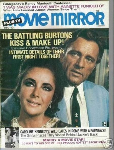 1975 Elizabeth Taylor and Richard Burtons love story told in magazine covers