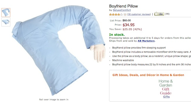Boyfriend pillow Everyday sexism: the Moshi Boyfriend and Girlfriend pillows