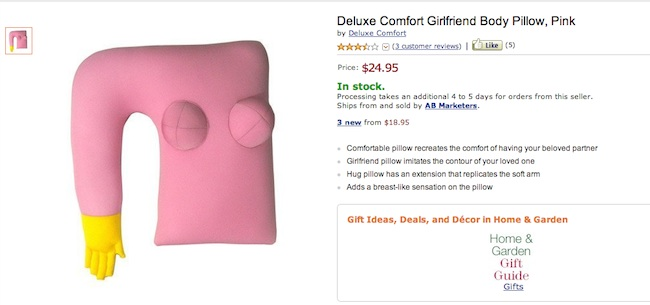 Girlfriend pillow Everyday sexism: the Moshi Boyfriend and Girlfriend pillows