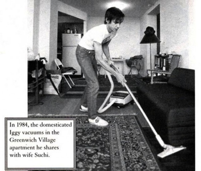 Famous musicians doing ordinary things at home