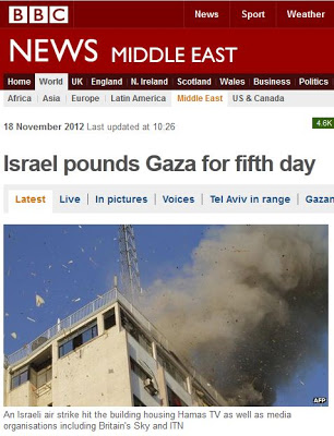 Israel pounds Gaza BBC Why is the BBC biased against rich Jew friendly Israel?