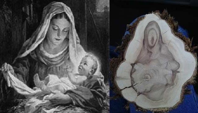 Тату дева мария с младенцем фото