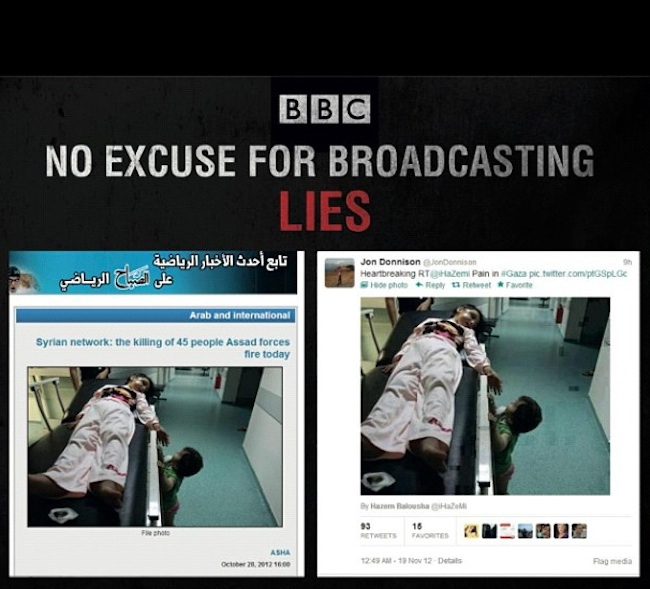 JON Donnison  Israel fakes: BBC Gaza correspondent tweets old photo of dead child killed in Syria