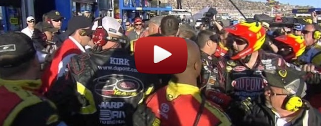 Jeff Gordon and Clint Bowyer  FIGHT! Jeff Gordon and Clint Bowyer make Nascar great to watch