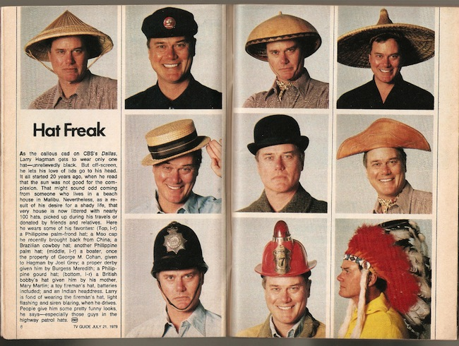 Larry Hagman Larry Hagman had over 100 hats