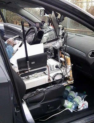 Mobile office Turn your car into a television studio and office