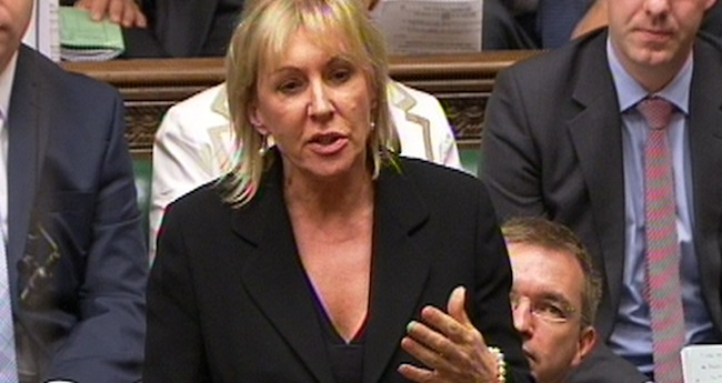 PA 14462723 Nadine Dorries, wave goodbye to your career!