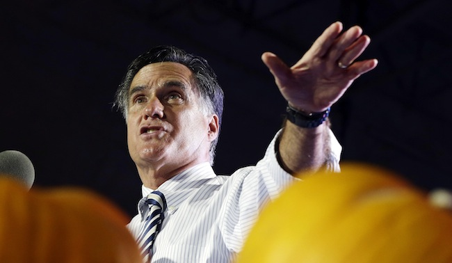 PA 150180601 Mitt Romney explains his apocalyptic vision: Jerusalem and Missouri win
