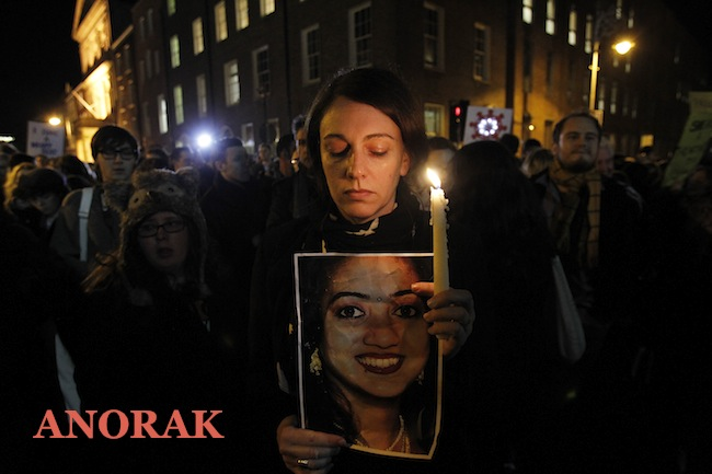 PA 15128930 Did Irelands anti abortionists kill Savita Halappanavar? (protest photos)