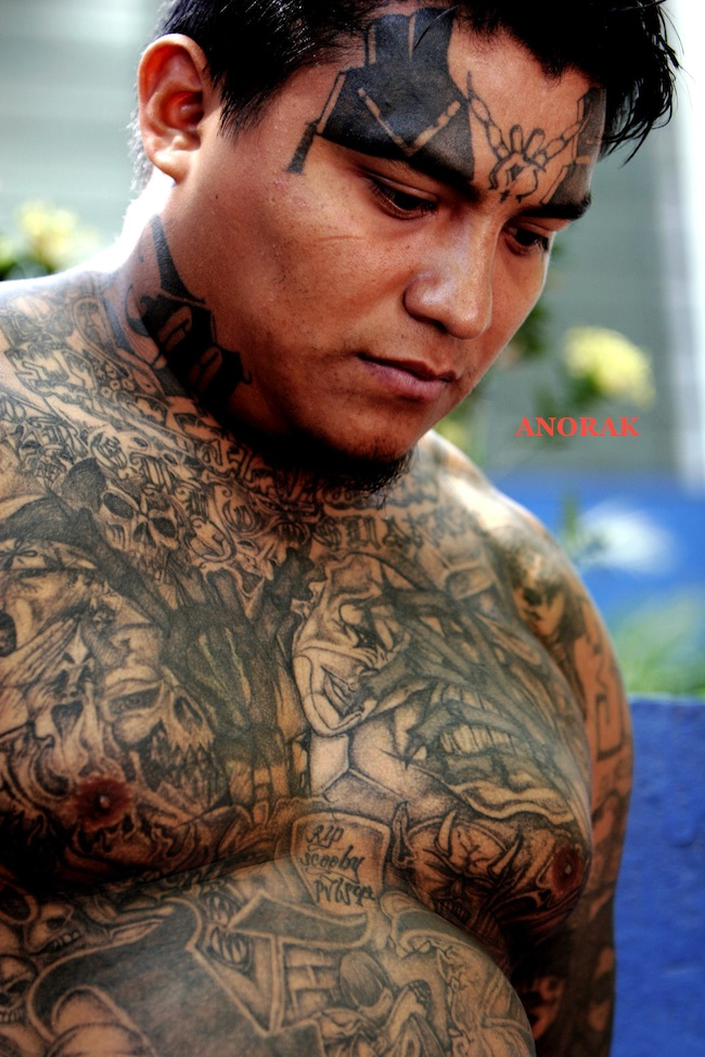PA 3387321 In photos: the tattooed faces of MS 13 and 18th Street gang members