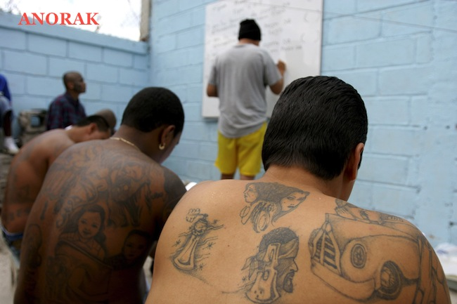 PA 3481946 In photos: the tattooed faces of MS 13 and 18th Street gang members