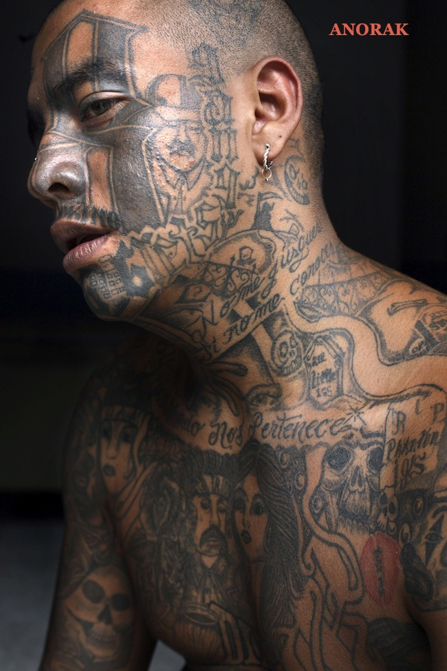 Gangsta Tattoos: In Photos: The Tattooed Faces Of MS-13 And 18th