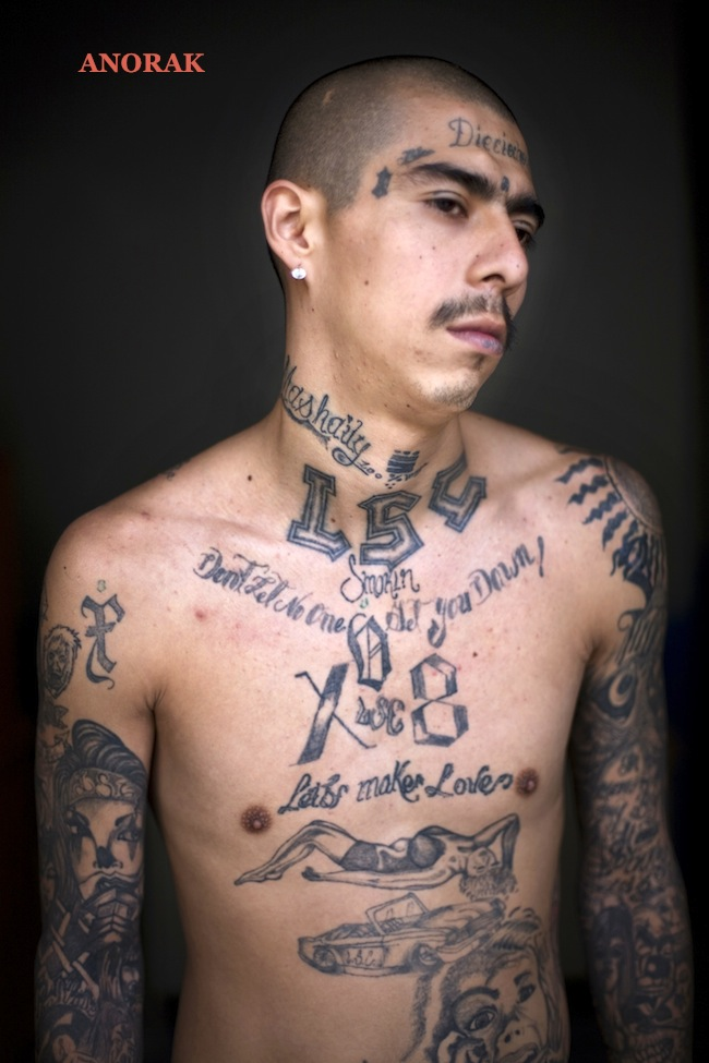 anorak in photos the tattooed faces of ms 13 and 18th street gang members. Black Bedroom Furniture Sets. Home Design Ideas
