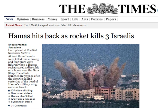 Times bias Israel v Hamas: we all know who started it (photos)