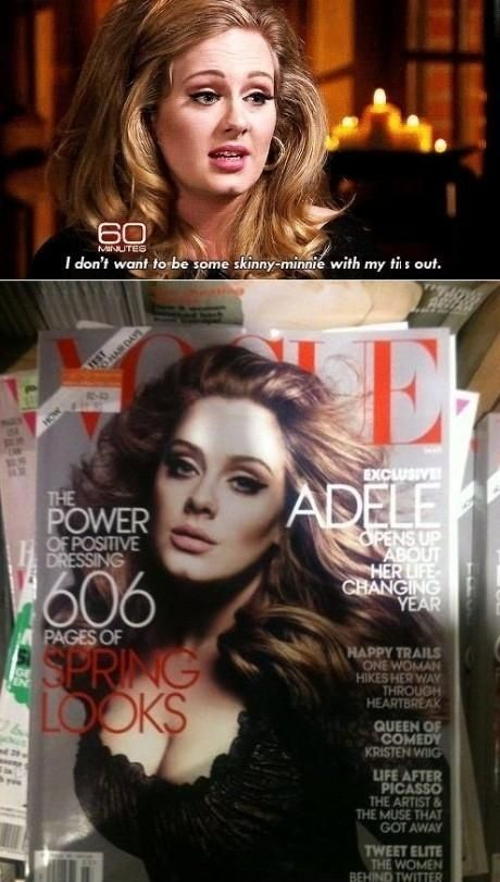 adele Look what the did to skinny Adele with her ti*s out
