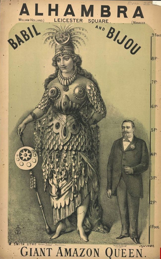 amazon queen Highlights from the Victorian circus freak show (posters)