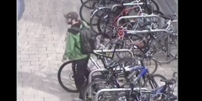 bike theft bristol1 Bristol police officer filmed stealing his own bicycle
