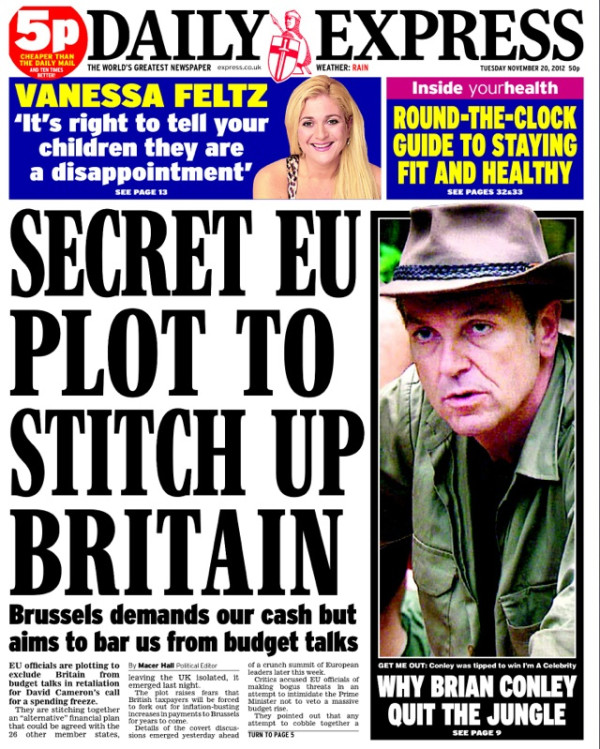 daily express EU The Secret European Union budget deal that isnt