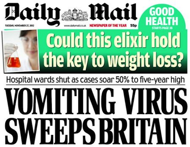 daily mail weight loss Juxtaposition: Daily Mail offer weight loss elixir for vomiters  