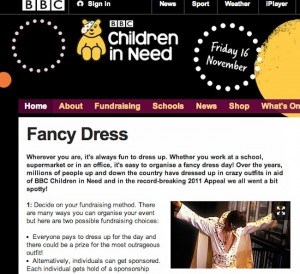 elvis children in need 300x274 BBC want you to dress as paedophile Elvis Presley to celebrate Children in Need